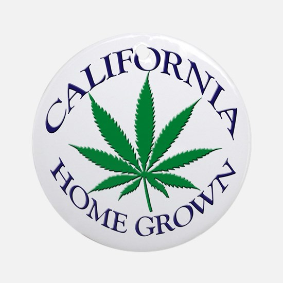 California Home Grown Ornament (Round)