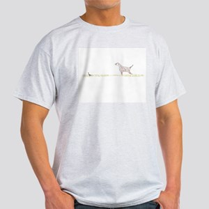 Orange English Setter on Chukar Ash Grey T-Shirt