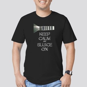 Men's Fitted T-Shirt (dark) - Keep Calm And Sluice