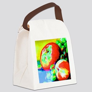 Apples And Grapes Canvas Lunch Bag