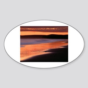 Drakes Bay California Oval Sticker