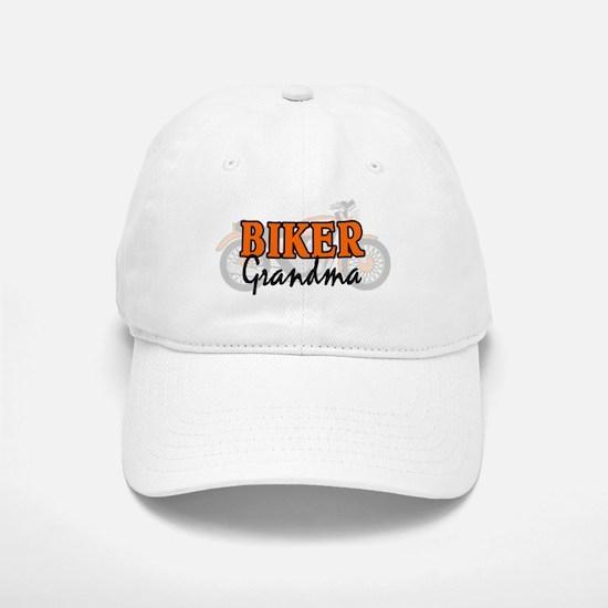 BIKER GRANDMA Baseball Baseball Cap