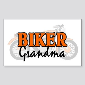 BIKER GRANDMA Rectangle Sticker