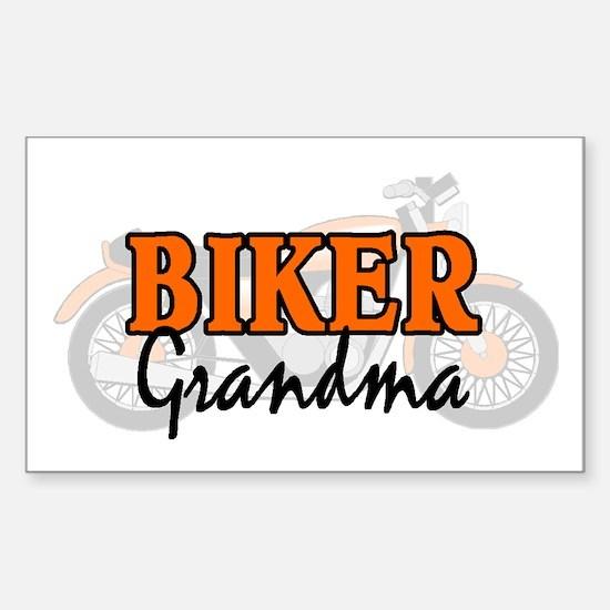 BIKER GRANDMA Rectangle Decal