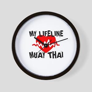 My Life Line Muay Thai Wall Clock