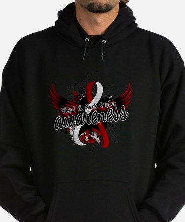 Head Neck Cancer Awareness 16 Hoodie (dark)