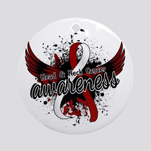 Head Neck Cancer Awareness 16 Ornament (Round)