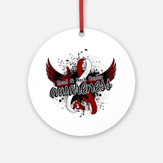 Head Neck Cancer Awareness 16 Ornament (Round)