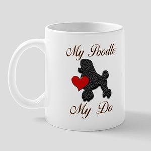 My (Black) Poodle... Mug