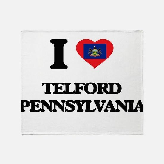 I love Telford Pennsylvania Throw Blanket