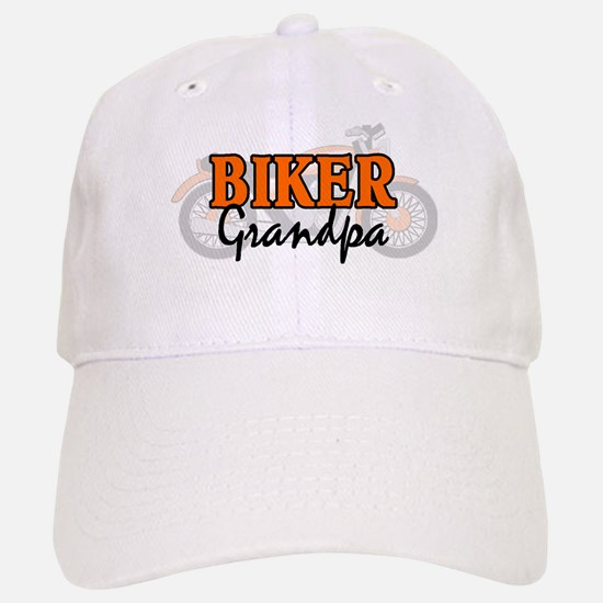 BIKER GRANDPA Baseball Baseball Cap