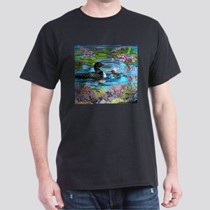 Loons and Lilies Dark T-Shirt