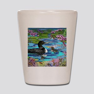 Loons and Lilies Shot Glass