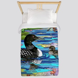 Loons and Lilies Twin Duvet