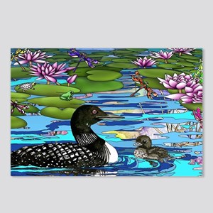 Loons and Lilies Postcards (Package of 8)