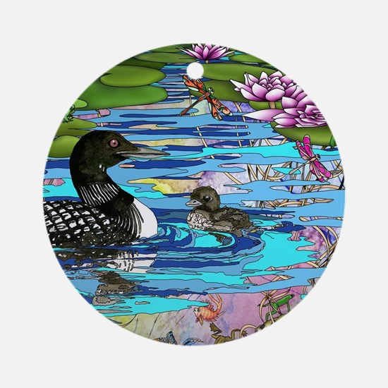 Loons and Lilies Ornament (Round)