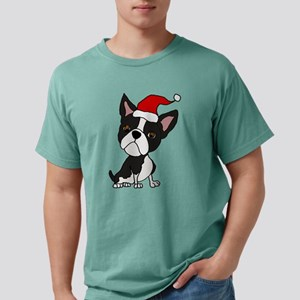 Cute Boston Terrier Christmas Art T-Shirt