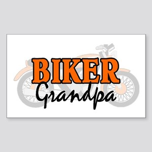 BIKER GRANDPA Rectangle Sticker