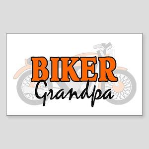 BIKER GRANDPA Rectangle Sticker