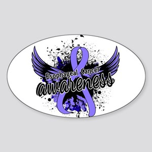 Esophageal Cancer Awareness 16 Sticker (Oval)