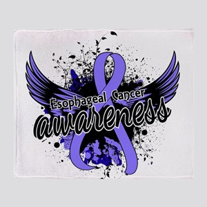 Esophageal Cancer Awareness 16 Throw Blanket