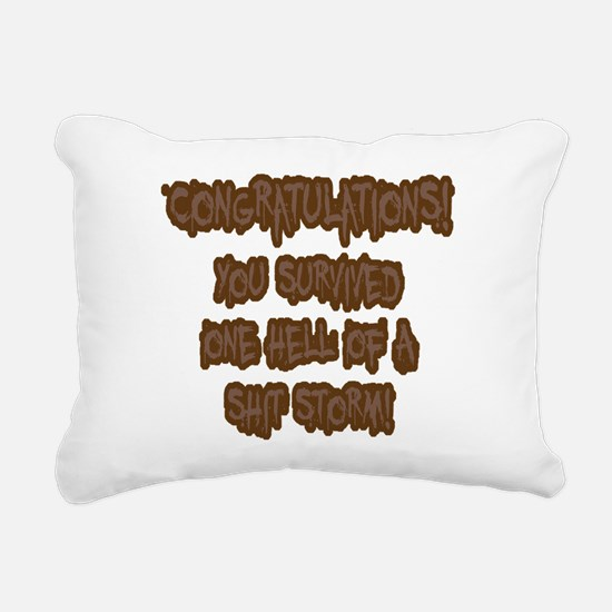 Congratulations! Rectangular Canvas Pillow