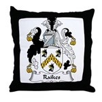 Raikes Family Crest Throw Pillow