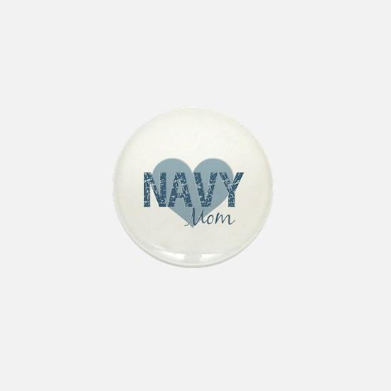 Navy Mom Mini Button