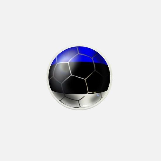 Estonia Soccer Ball Mini Button
