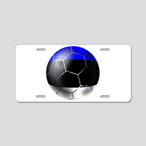 Estonia Soccer Ball Aluminum License Plate