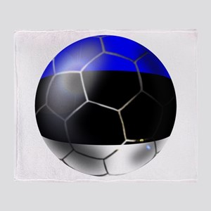 Estonia Soccer Ball Throw Blanket