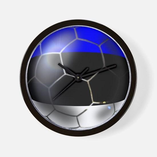 Estonia Soccer Ball Wall Clock