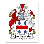 Quatermain Family Crest Small Poster