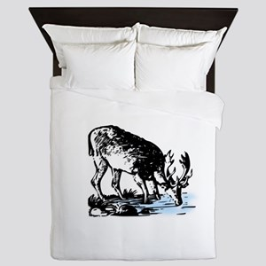 Elk in Stream Queen Duvet