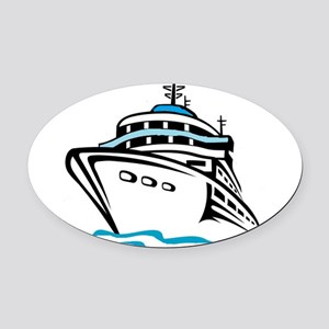 Cruising Oval Car Magnet