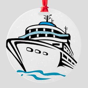 Cruising Round Ornament