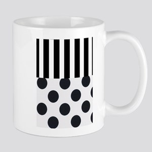 Black and White Stripes and Dots Mugs