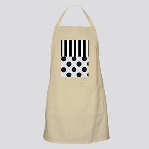 Black and White Stripes and Dots Apron