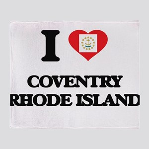 I love Coventry Rhode Island Throw Blanket