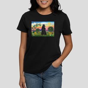 Bright Country & Belgian Shepherd Women's Dark T-S