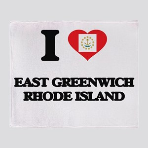 I love East Greenwich Rhode Island Throw Blanket