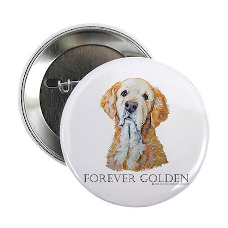 "Golden Retreiver Dog Gifts 2.25"" Button (10 pack)"