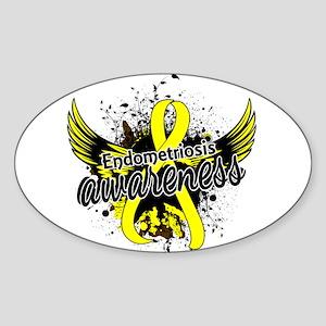 Endometriosis Awareness 16 Sticker (Oval)