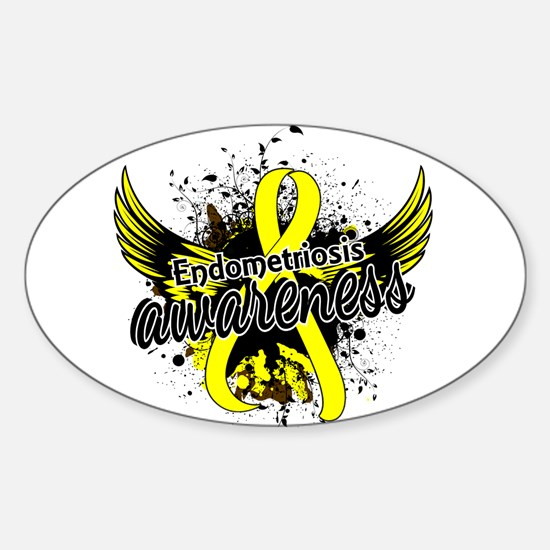 Endometriosis Awareness 16 Sticker (Oval)