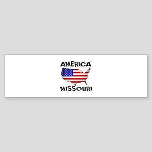 Missouri American State Designs Sticker (Bumper)
