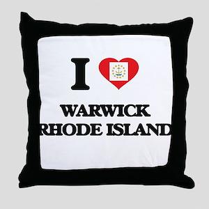 I love Warwick Rhode Island Throw Pillow