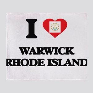 I love Warwick Rhode Island Throw Blanket