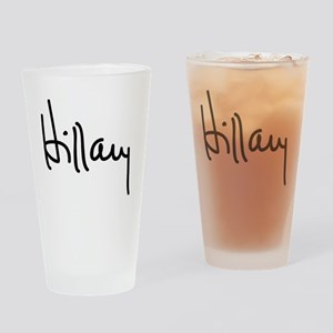 Hillary Clinton Signature Drinking Glass