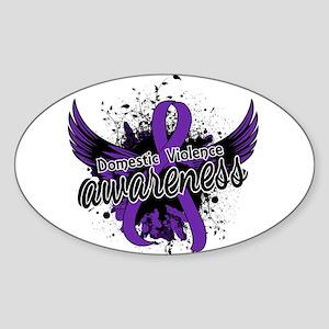 Domestic Violence Awareness 16 Sticker (Oval)