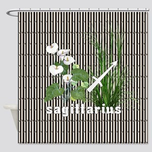 Bamboo and Lily Sagittarius Shower Curtain